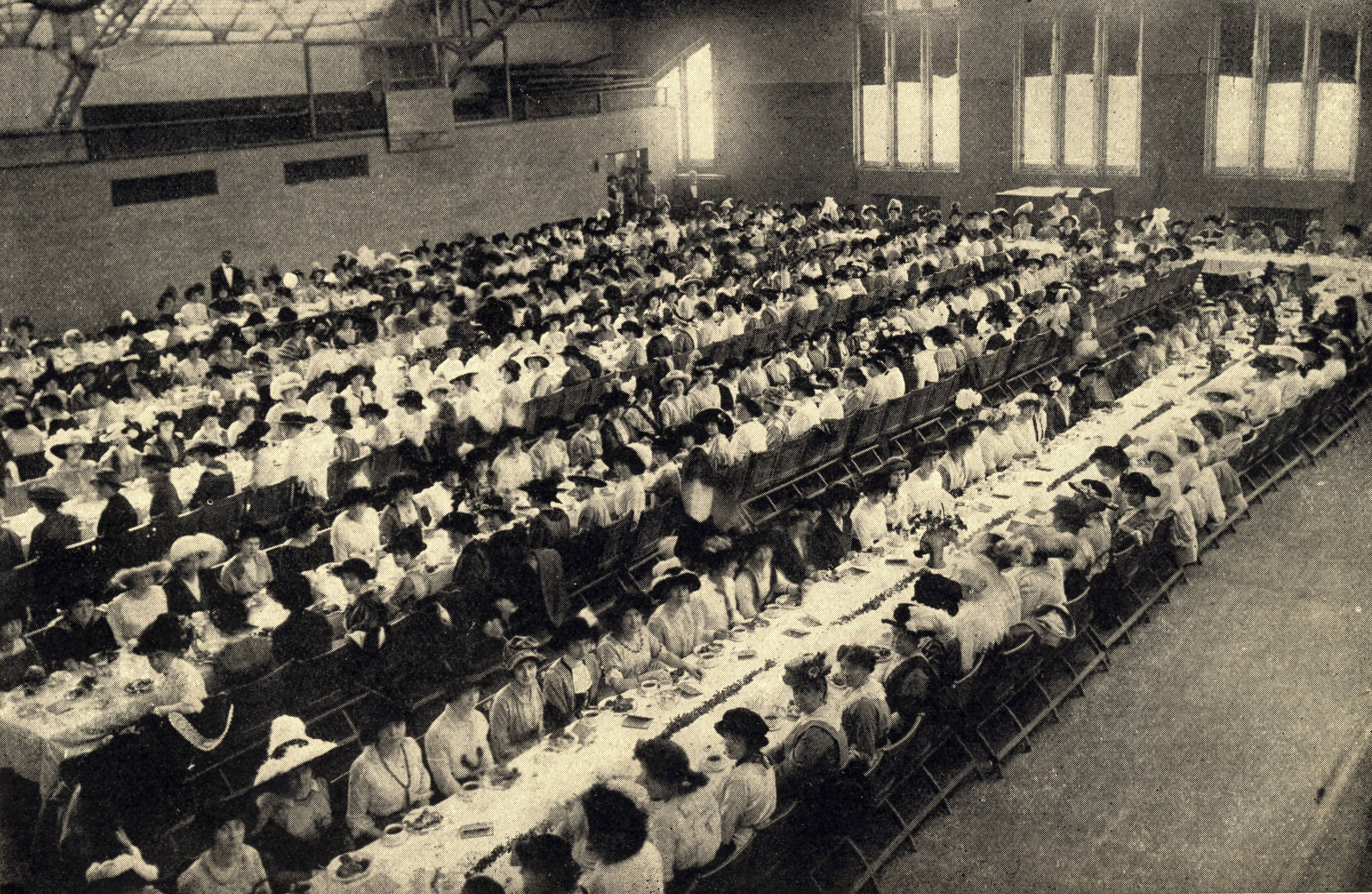 The Panhellenic Luncheon at Northwestern University's Patten Gymnasium, October 1913.