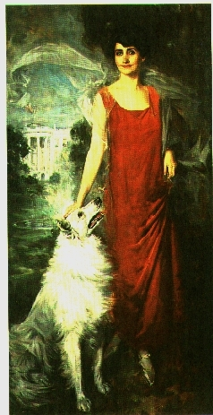 Grace Coolidge in her official First Lady portrait
