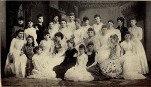 Omega Chapter of Kappa Kappa Gamma, University of Kansas, late 1800s.