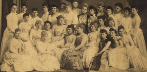 Kansas Alpha Chapter of Pi Beta Phi, University of Kansas, late 1800s (The I.C.s referred to in the previous picture.)