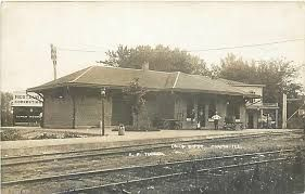 The old Chapin Train Station where Amy Burnham Onken departed and arrived when she took her trips on beha