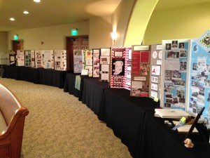 The displays before the attendees arrived.