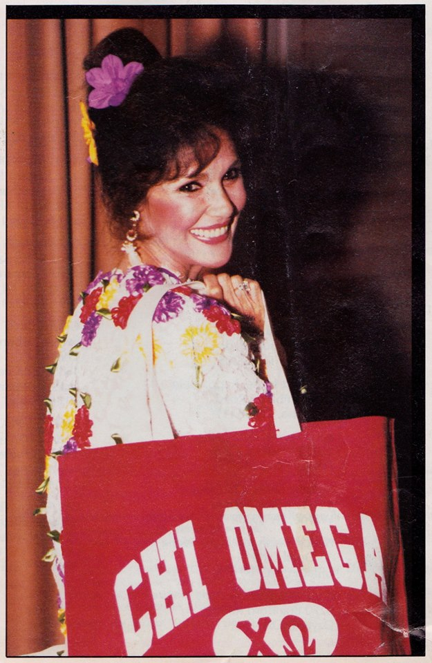 Mary Ann Mobley at the 1990 Chi Omega convention (Photo courtesy of Lyn Harris)