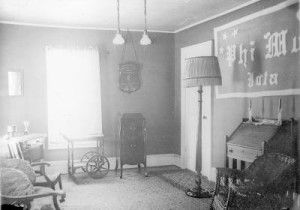 Phi Mu chapter room at Lawrence College (courtesy Lawrence University Archives)