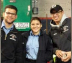 The team that delivered the baby girl l-t-r) Anthony Grasso, Scarlett Guajala, Michael Vales