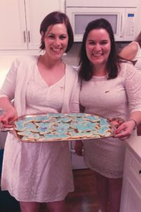 Arrow shaped cookies baked by the wonderfully talented Amanda Pilger, Alumnae Advisory Committee Chairman left