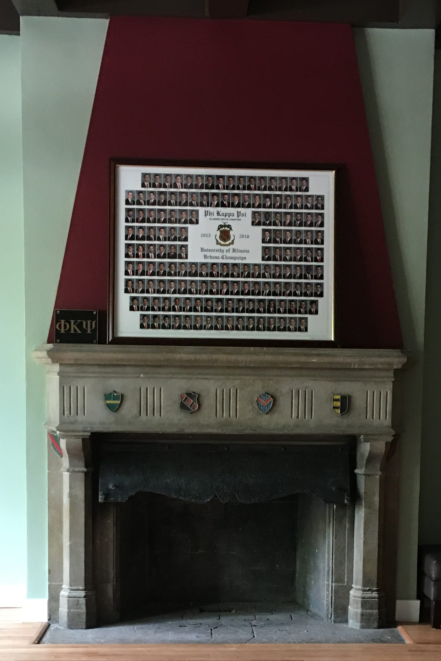 A fireplace from the house built in the 1900s was incorporated into the newly rebuilt house.