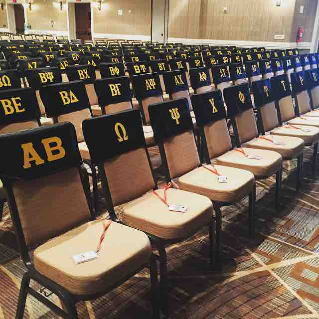 Kappa Alpha Theta delegate chairs for the Grand Convention.