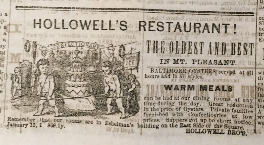 It is said that Hallowells Restaurant os hg