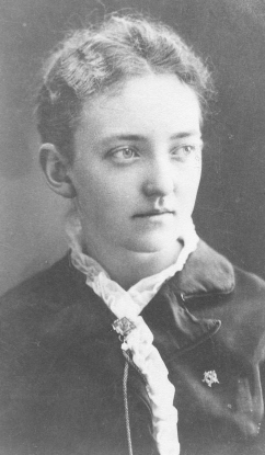 Kate Hogoboom. She was the mother of the first Alpha Phi daughter, Ruth Gilbert (Becker(
