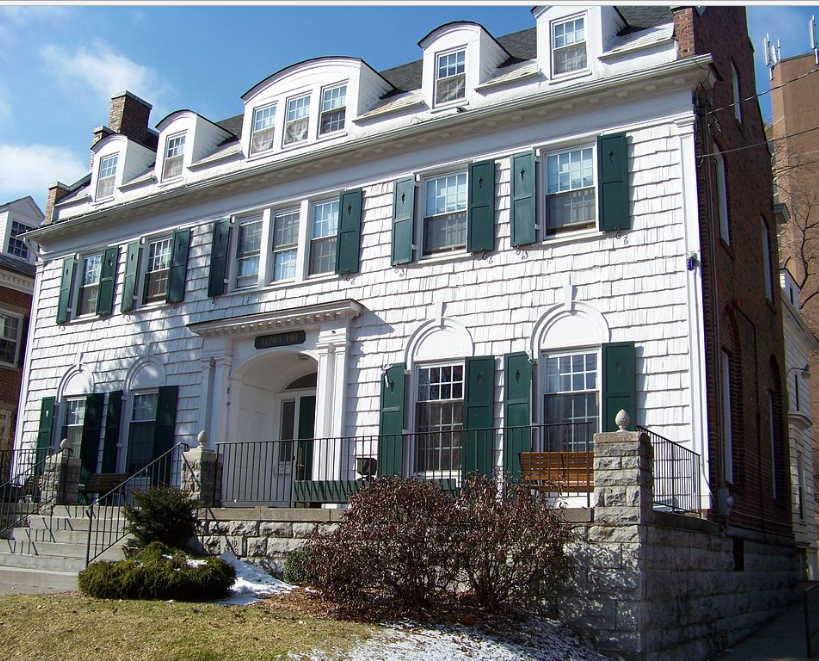 The home of Alpha Phi's Alpha Chapter at 308 Walnut Place in Syracuse.